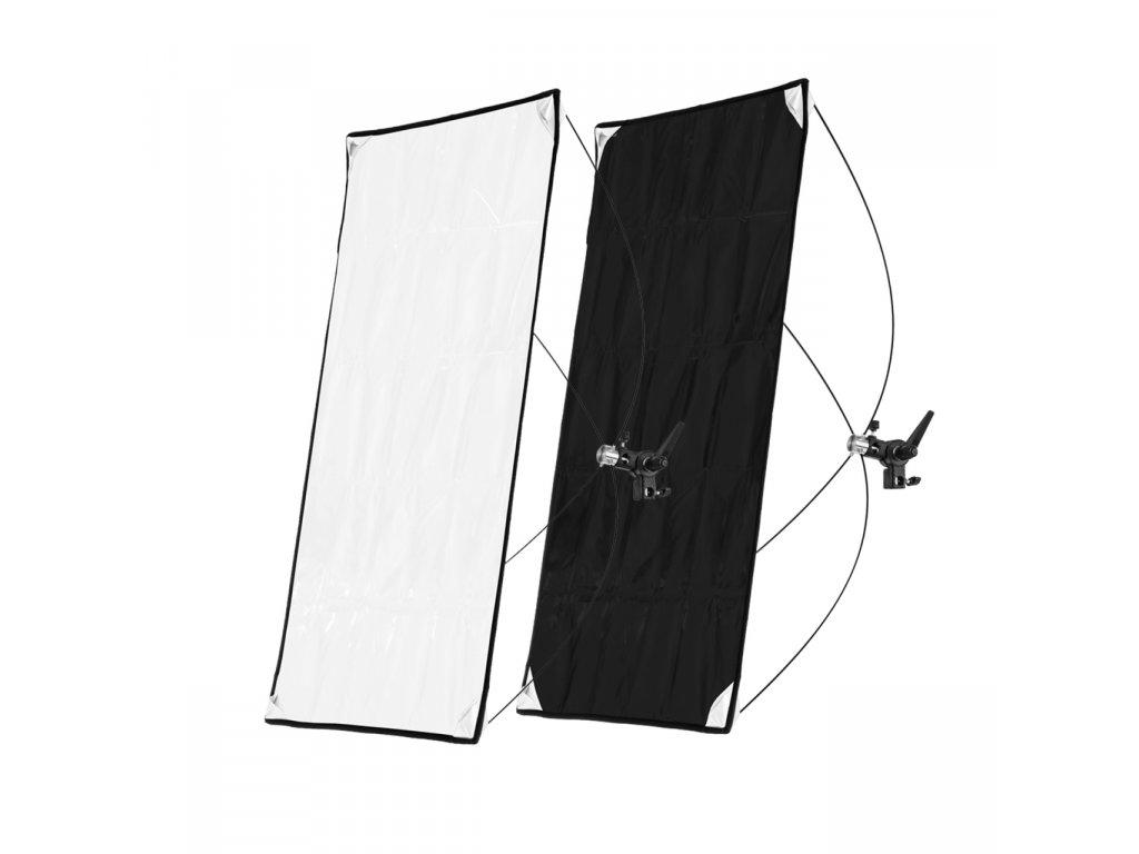 Odrazový tieniaci panel 70x90cm bielo čierny, rýchlorozkladací