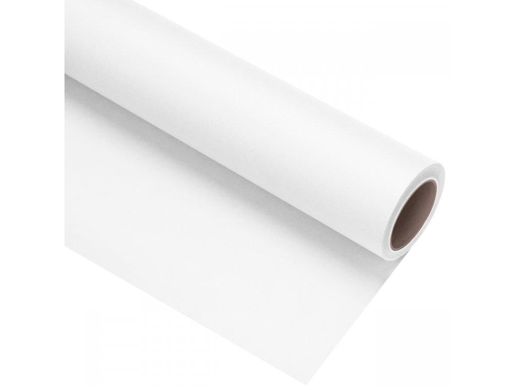 Papierové fotografické pozadie 1,35x11m - biele - arctic white