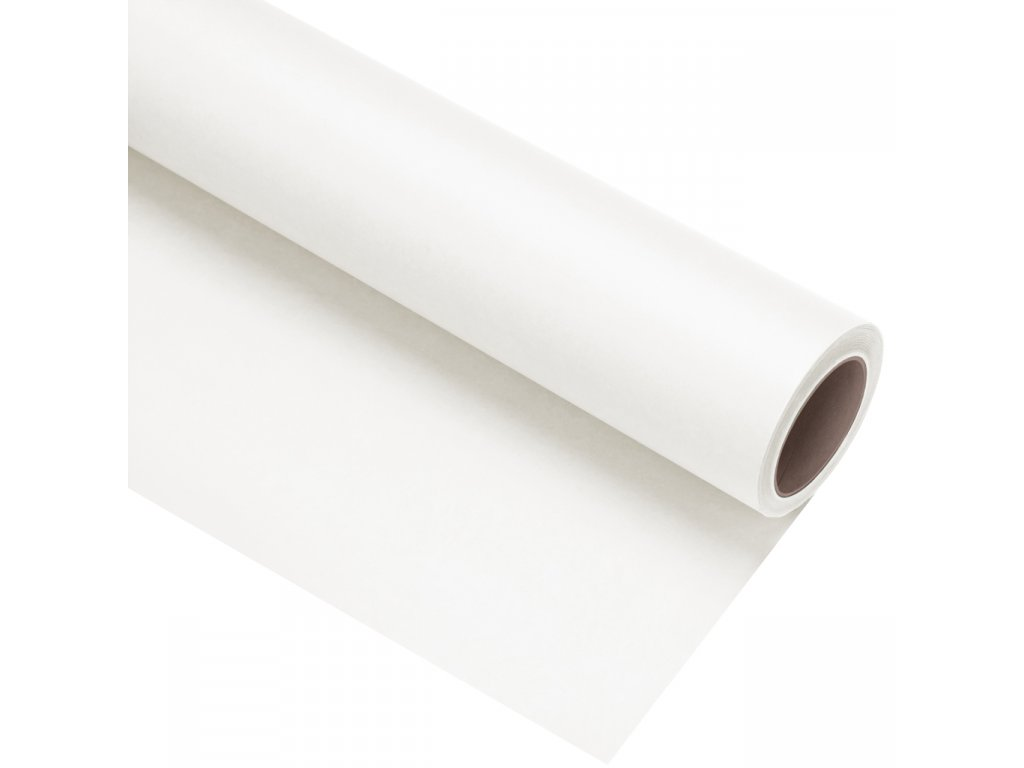 Papierové fotografické pozadie 1,35x11m - biele - polar white | snow