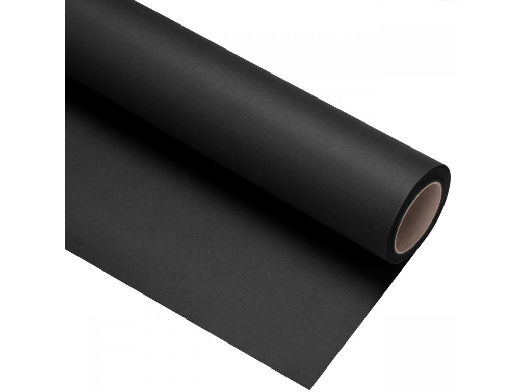 Papierové fotografické pozadie 1,35x11m - čierne - black