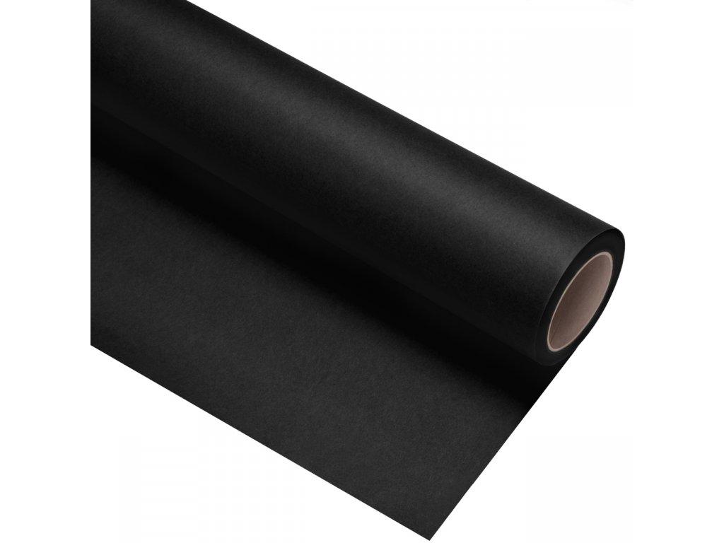 Papierové fotografické pozadie 1,35x11m - temne čierne - ultra black