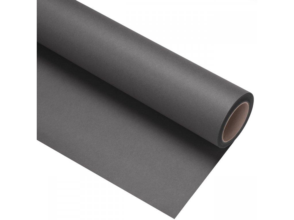 Papierové fotografické pozadie 1,35x11m - tmavo sivé - seal   neutral grey