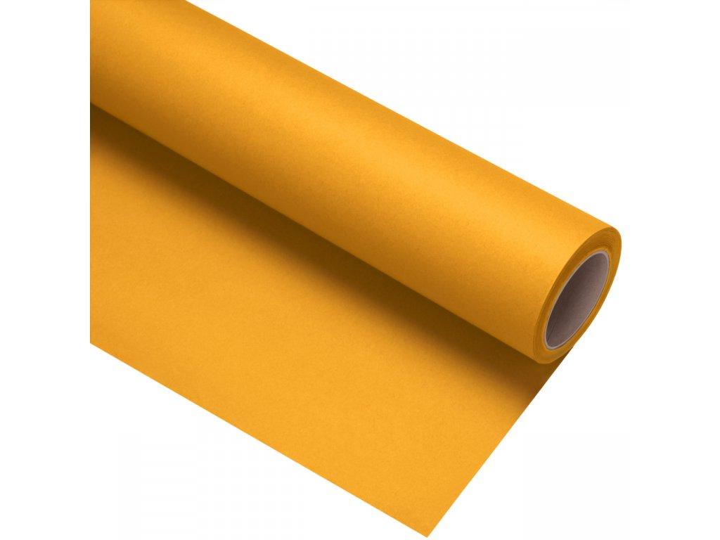 Papierové fotografické pozadie 1,35x11m - tmavo žlté - buttercup