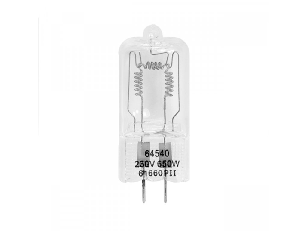 Pilotná halogénová žiarovka GX6.35 650W