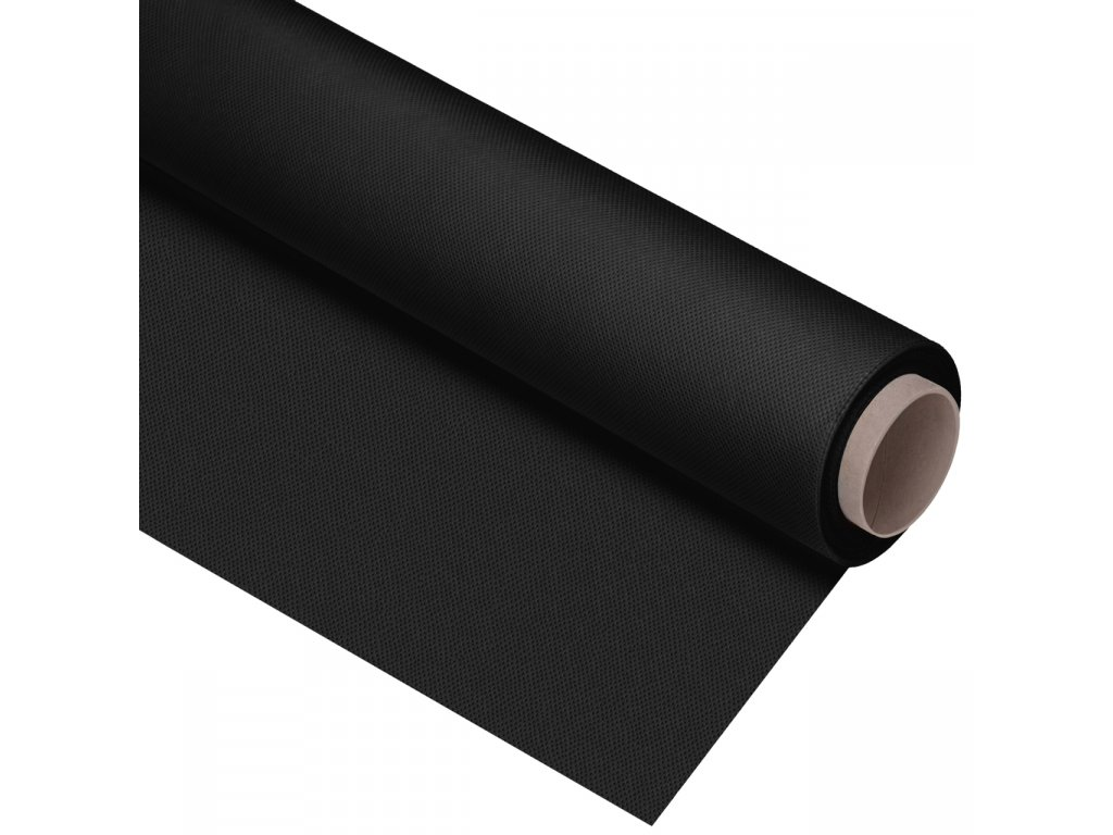 Polypropylenové fotografické pozadie čierné , 2,7 x 10m