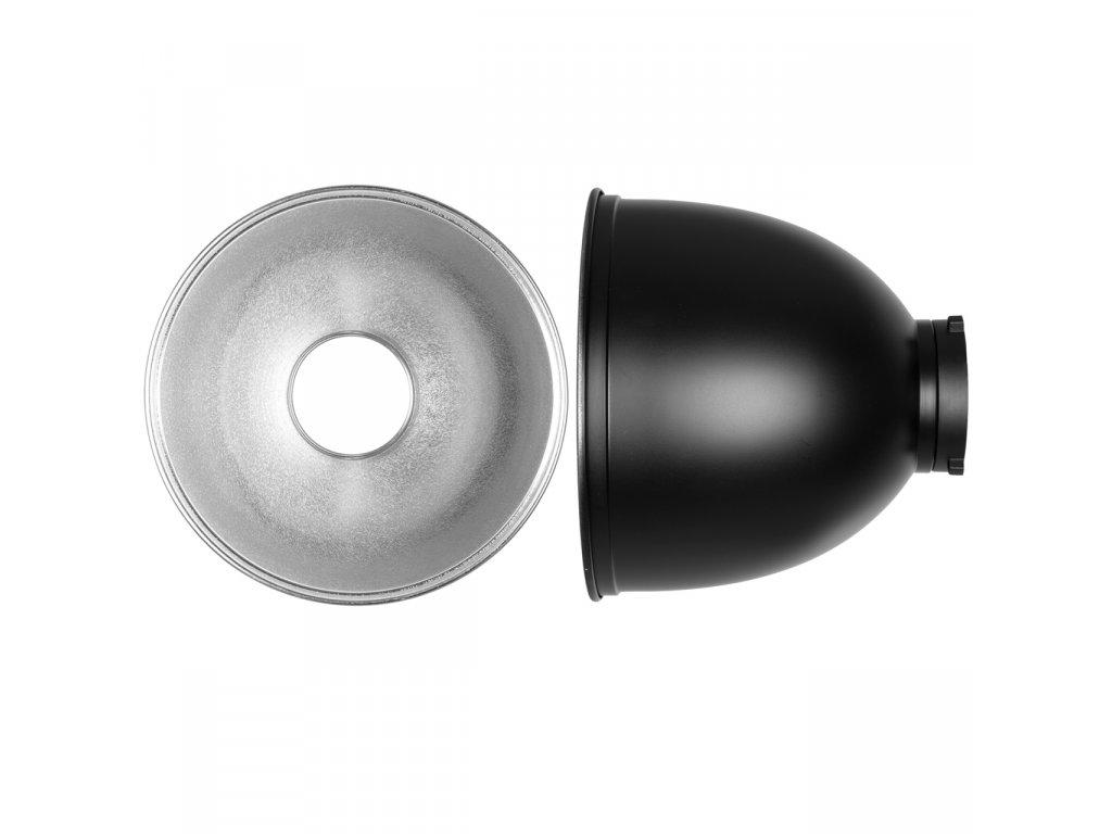 Reflektor - 25,7 cm, 65°, bajonet Bowens s voštinami S,M