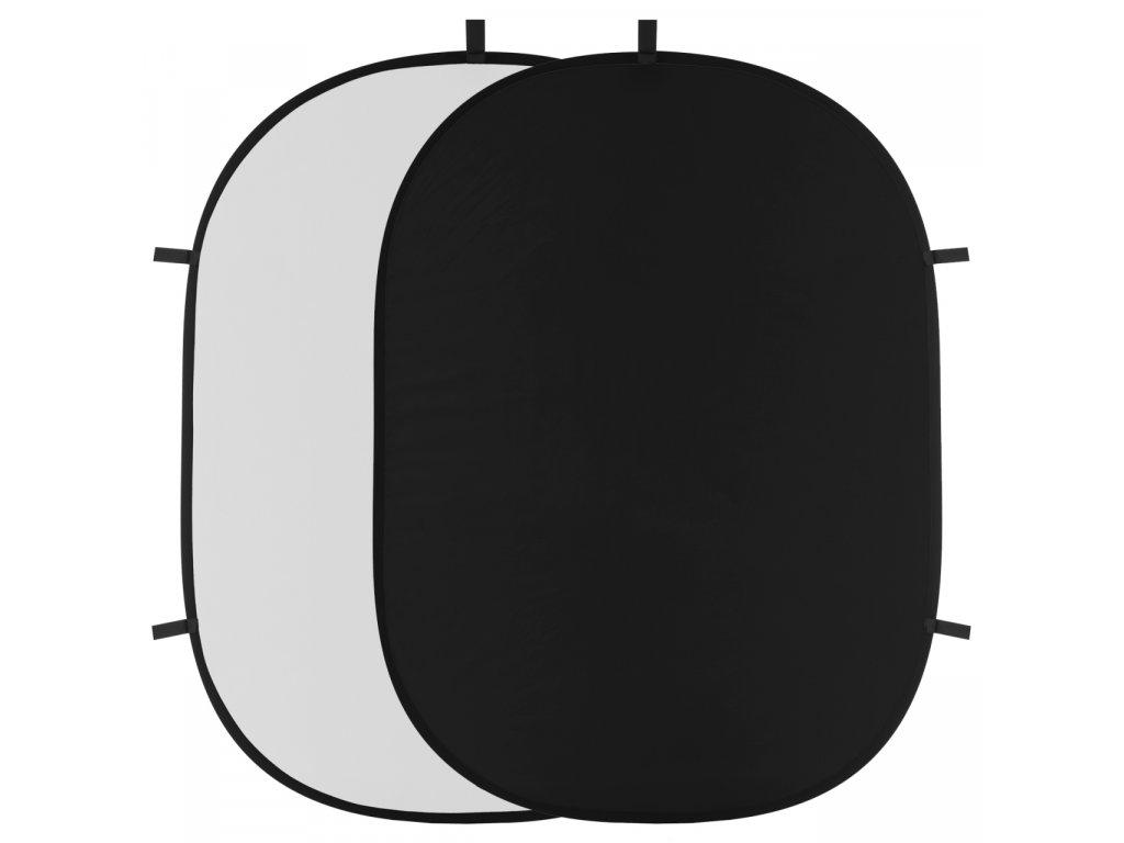 Rýchlorozkladacie fotografické pozadie 150x200cm - biele, čierne
