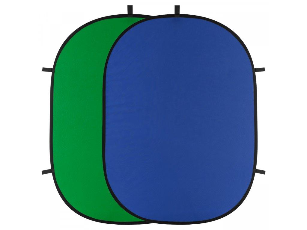 Rychlorozkládací fotografické pozadie 150x200cm - modrej, zelenej kľúčovacie