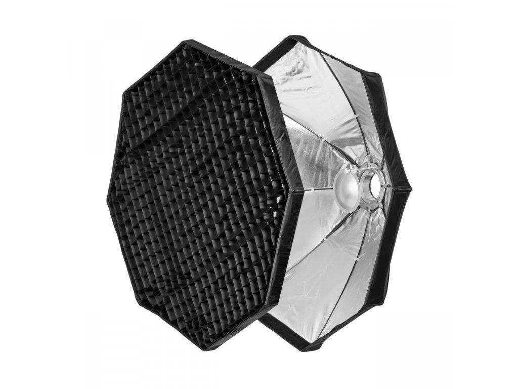 Beauty dish 100 cm rýchlo rozkladací s voštinou, adaptér Bowens