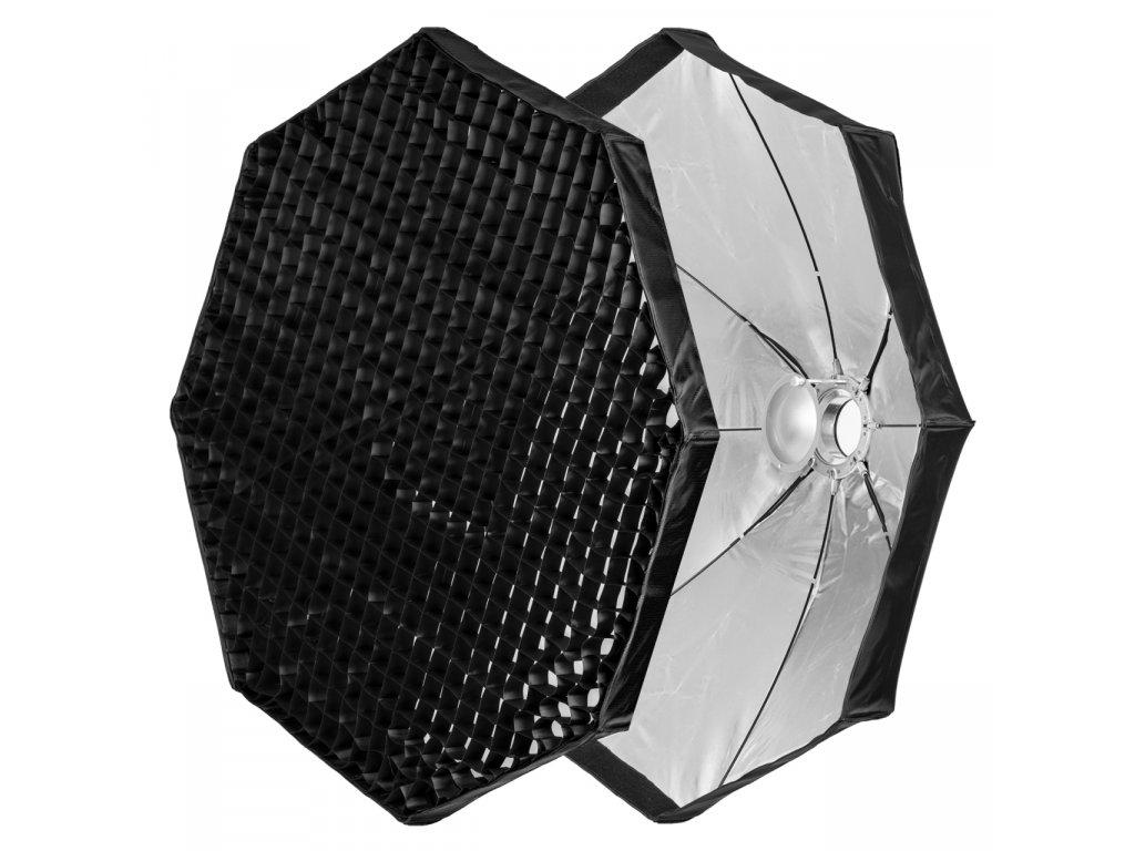 Beauty dish 120 cm rýchlo rozkladací s voštinou, adaptér Bowens