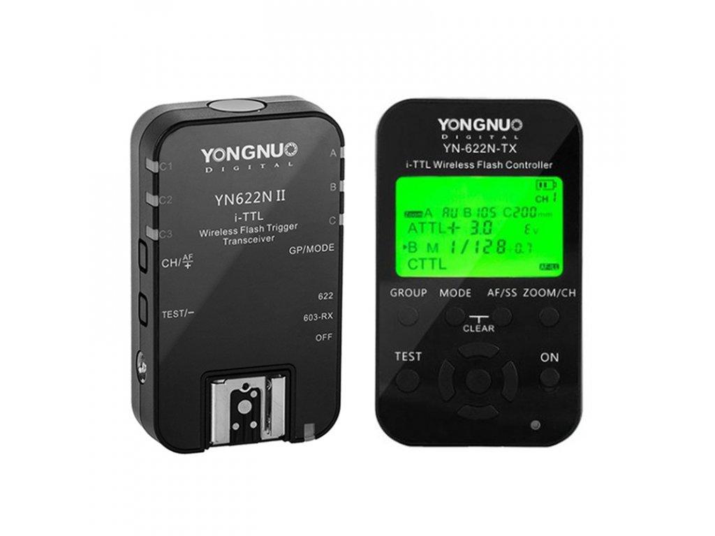 Set riadiaca jednotka s TTL YN622-N-TX a odpaľovač s TTL YN622-N II pre Nikon