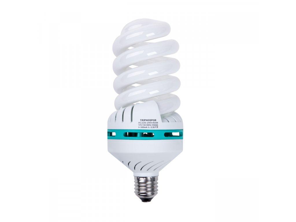 Špirálová žiarovka 65W pre trvalé světlo Daylight