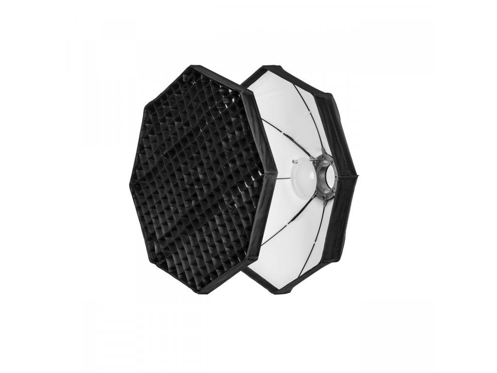 Beauty dish 80 cm biely rýchlorozkladací s voštinou, adaptér Bowens