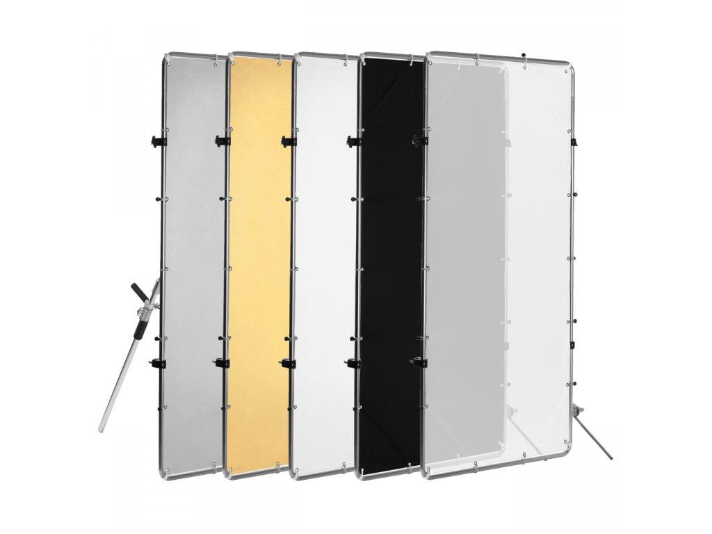 Tieniaci - odrazový panel 100x200 cm voľne stojaci 5v1