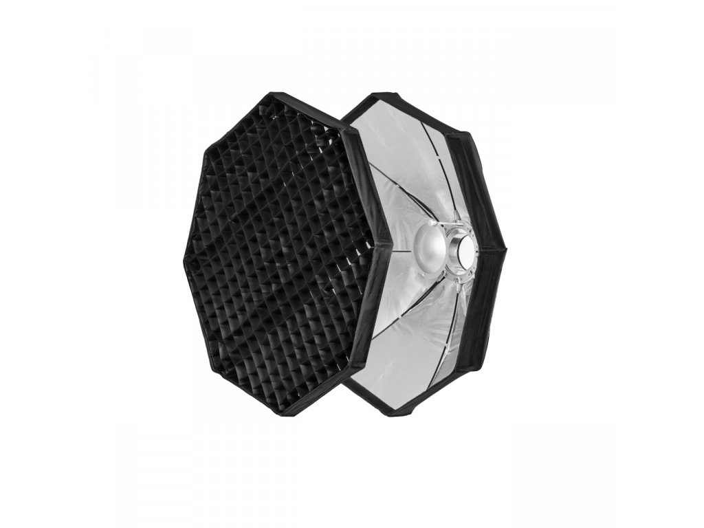 Beauty dish 80 cm rýchlo rozkladací s voštinou, adaptér Bowens