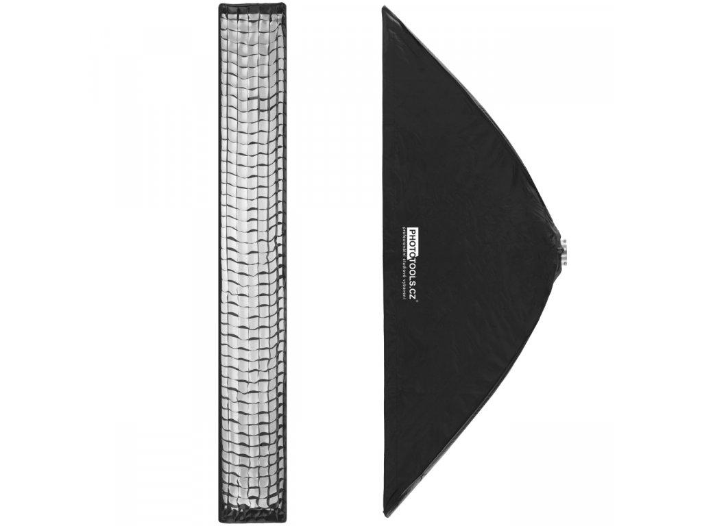Stripbox KS 30x200 cm rýchlorozkládací s voštinou, adaptér Bowens