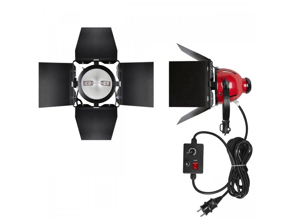 Trvalé halogénové svetlo 800W s klapkami a stmievačom
