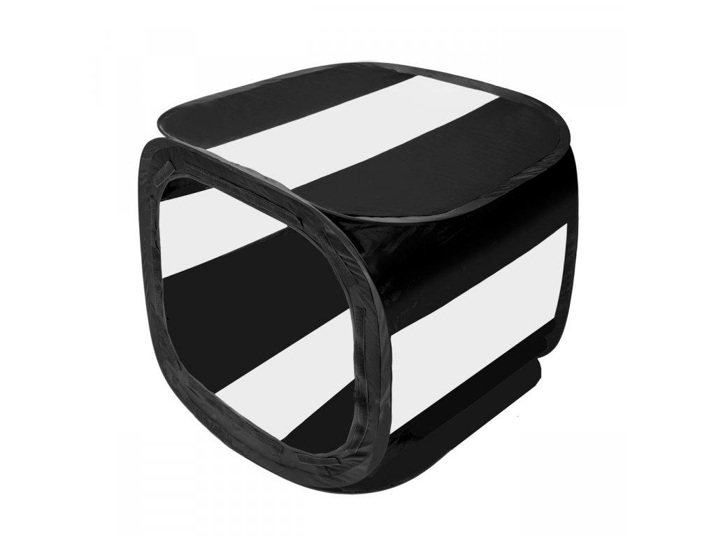 Difúzny - čierny svetelný foto stan 65 x 65 cm