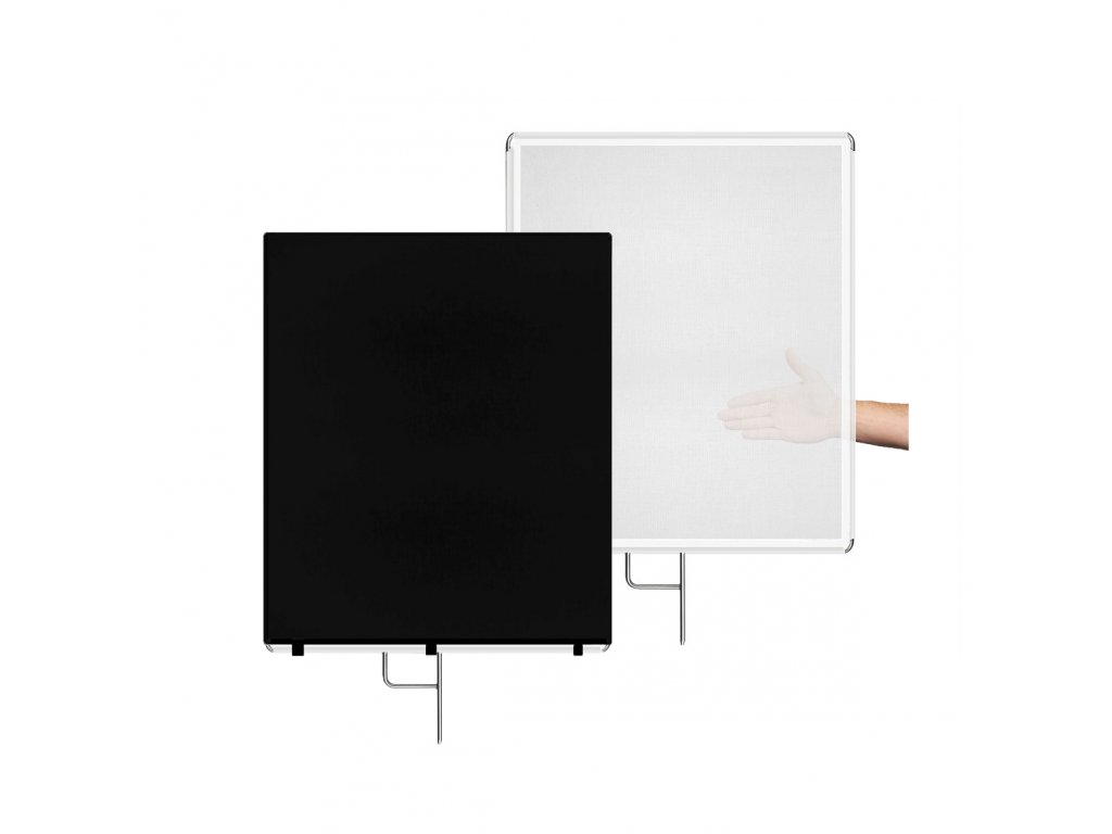 Difúzny, tieniaci panel 75x90cm bielo čierny