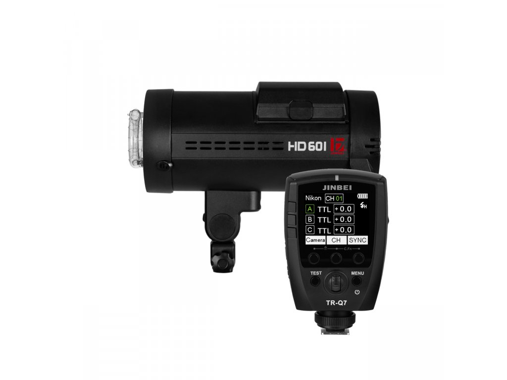 Digitálny batériový blesk HD 601 HSS + riadiaca jednotka Q7 pre Sony, Canon, Nikon, Fuji, Olympus, Lumix + kufor