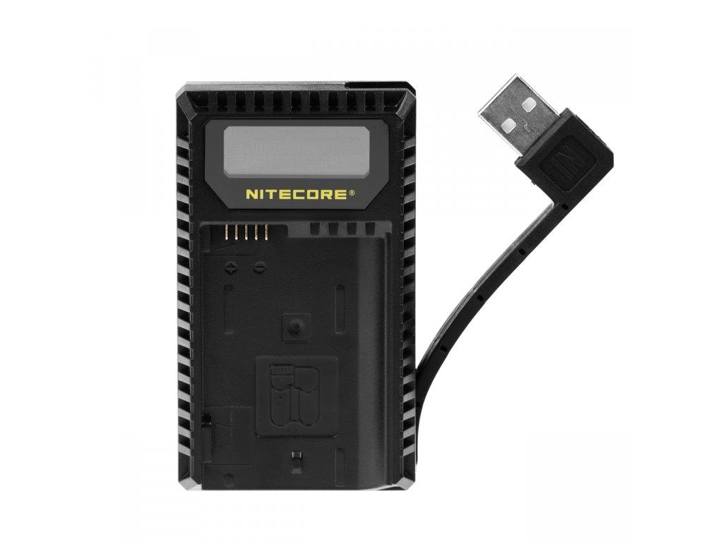 Duálna USB Nabíjačka batérií NIKON UNK1 Nitecore pre EN-EL14 a EN-EL15