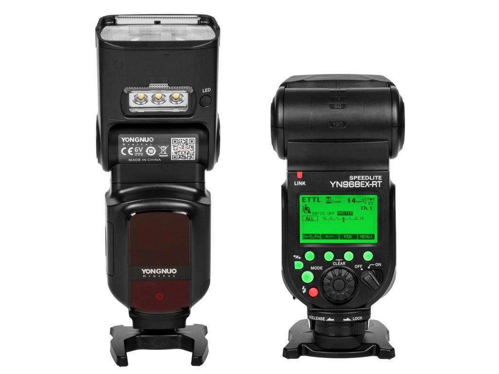 Externý systémový blesk s LED prisvietením YONGNUO YN968EX-RT Canon, GN60