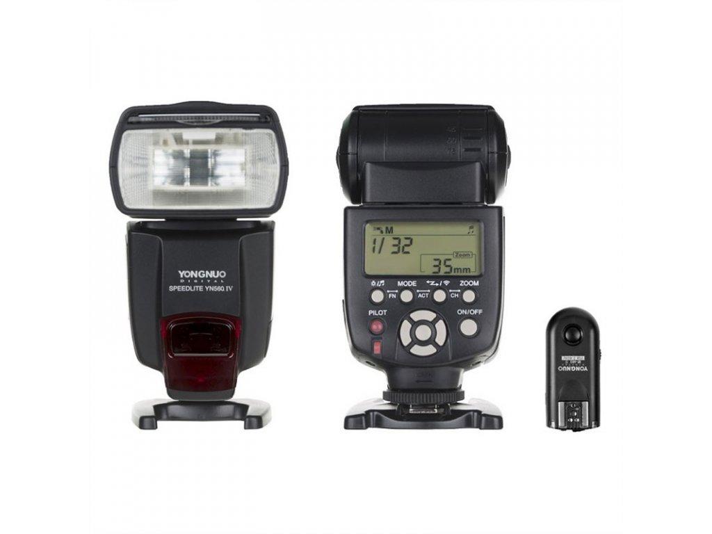 Externý systémový blesk YONGNUO YN560-IV, GN58 + odpalovač RF-603 II Nikon