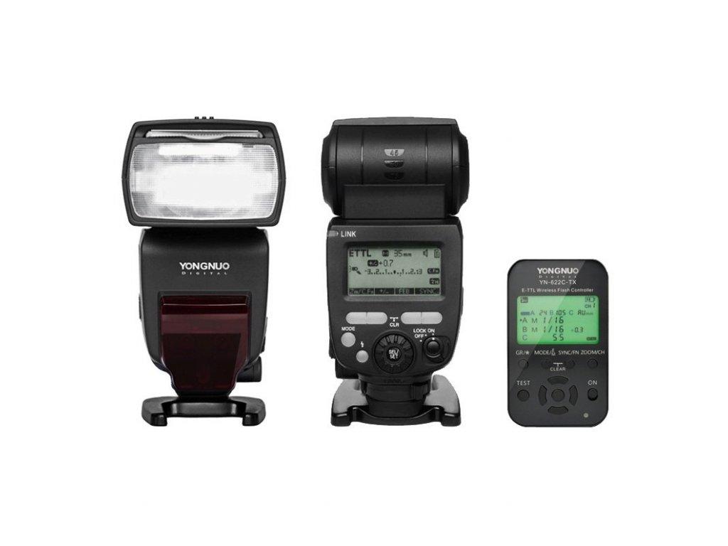 Externý systémový blesk YONGNUO YN685 Canon, GN60 + riadiaca jednotka YN-622C-TX