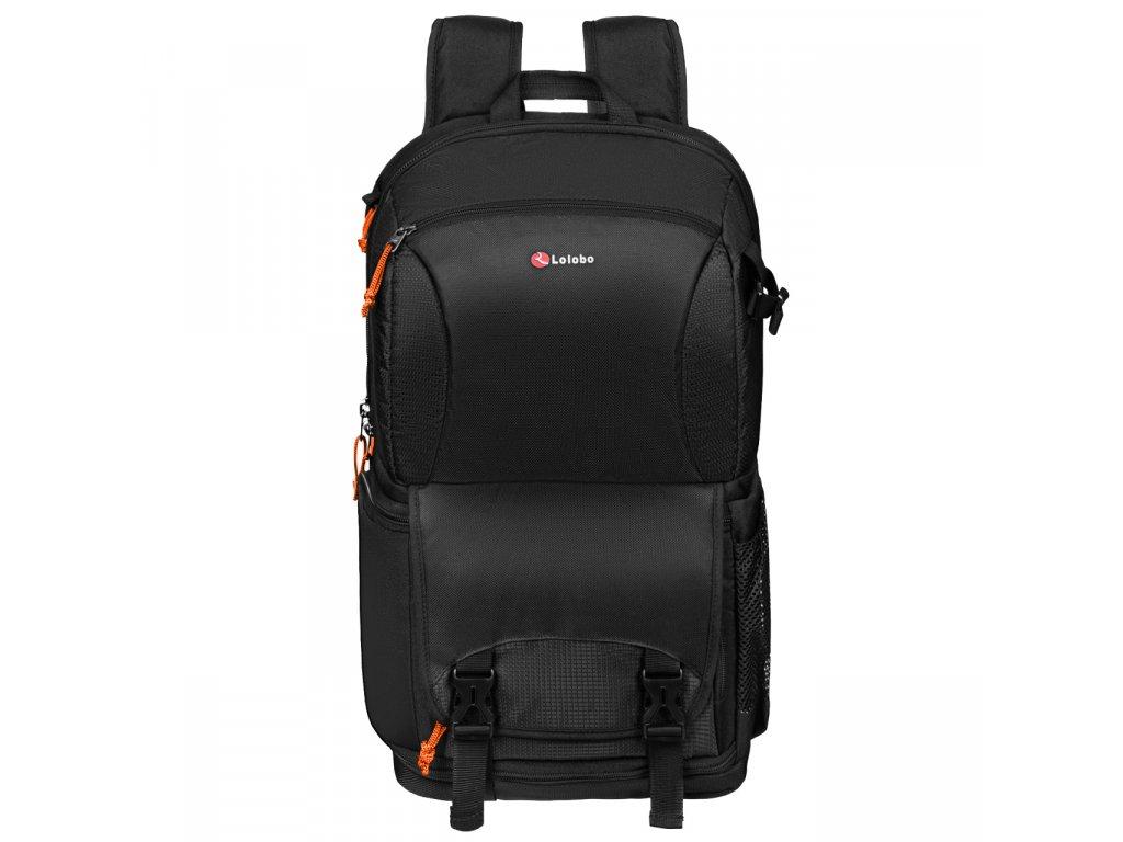 Fotografický batoh  LOLOBO T1 48x34x22cm, čierny