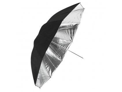 Fotografický strieborný dáždnik 150 cm