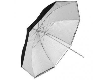 Fotografický strieborný-difúzny dáždnik 102cm