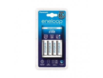 Nabíjačka batérií AA, AAA  + 4x batéria Eneloop