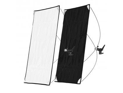 Odrazový tieniaci panel 90x180cm bielo čierny, rýchlorozkladací
