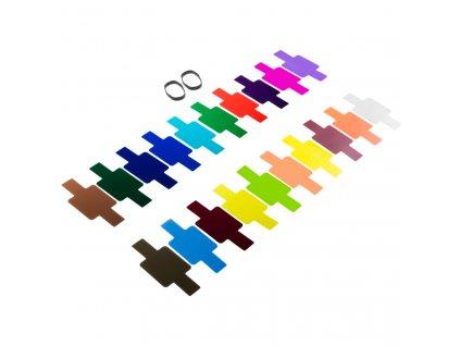 Barevné gelové filtry pro externí blesk, set 20 ks