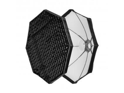 Beauty dish 100 cm biely rýchlorozkladací s voštinou, adaptér Bowens