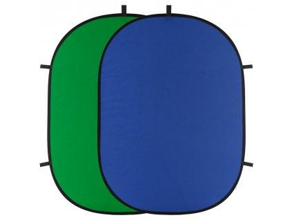 Rýchlorozkladacie fotografické pozadie 150x200cm - modro zelené -kľúčovacie