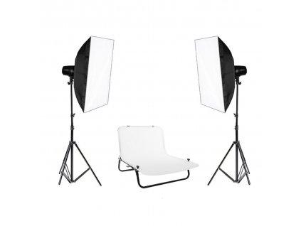 Set bleskov 2x Basic 150Ws + fotografický stôl 60x100 cm + prepravná taška