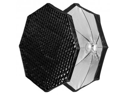 Beauty dish 120 cm rýchlorozkládací s voštinou, adaptér Bowens