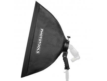 Set držiak externého blesku s rukoväťou a softboxom 40x60 cm