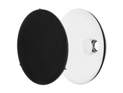 Beauty dish 70 cm biely s voštinou, adaptér Bowens