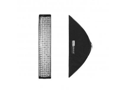 Stripbox KS 30x140 cm dáždnikový s voštinou, adaptér Bowens