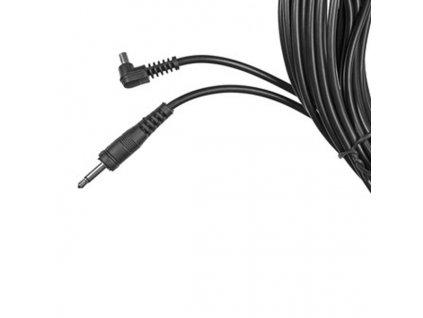 Synchronizačný kábel pre odpalovače, 3m, konektory 3,5 mm|PC port