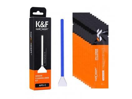 16mm tyčinky na čistenie APS-C senzoru K&F (10 ks)
