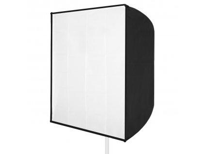 Dáždnikový soft box strieborný 70x70 cm