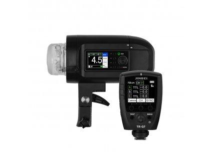 Digitálny batériový blesk HD 400 TTL, HSS + riadiaca jednotka Q7 pre Sony, Canon, Nikon, Fuji, Olympus, Lumix + kufor