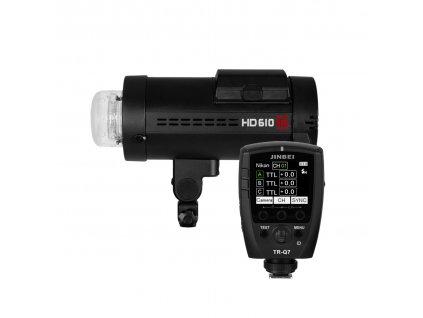 Digitálny batériový blesk HD 610 HSS + riadiaca jednotka Q7 pre Sony, Canon, Nikon, Fuji, Olympus, Lumix + kufor