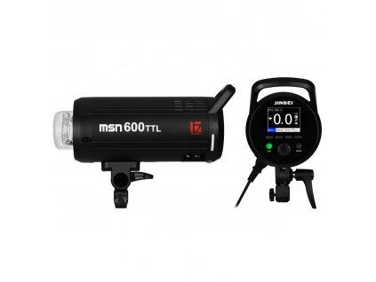 Digitálny štúdiový blesk MSN 600 TTL, HSS - Sony, Canon, Nikon, Fuji, Olympus, Lumix
