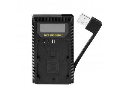 Duálna USB Nabíjačka batérií CANON Nitecore UCN1 pre LP-E6 a LP-E8