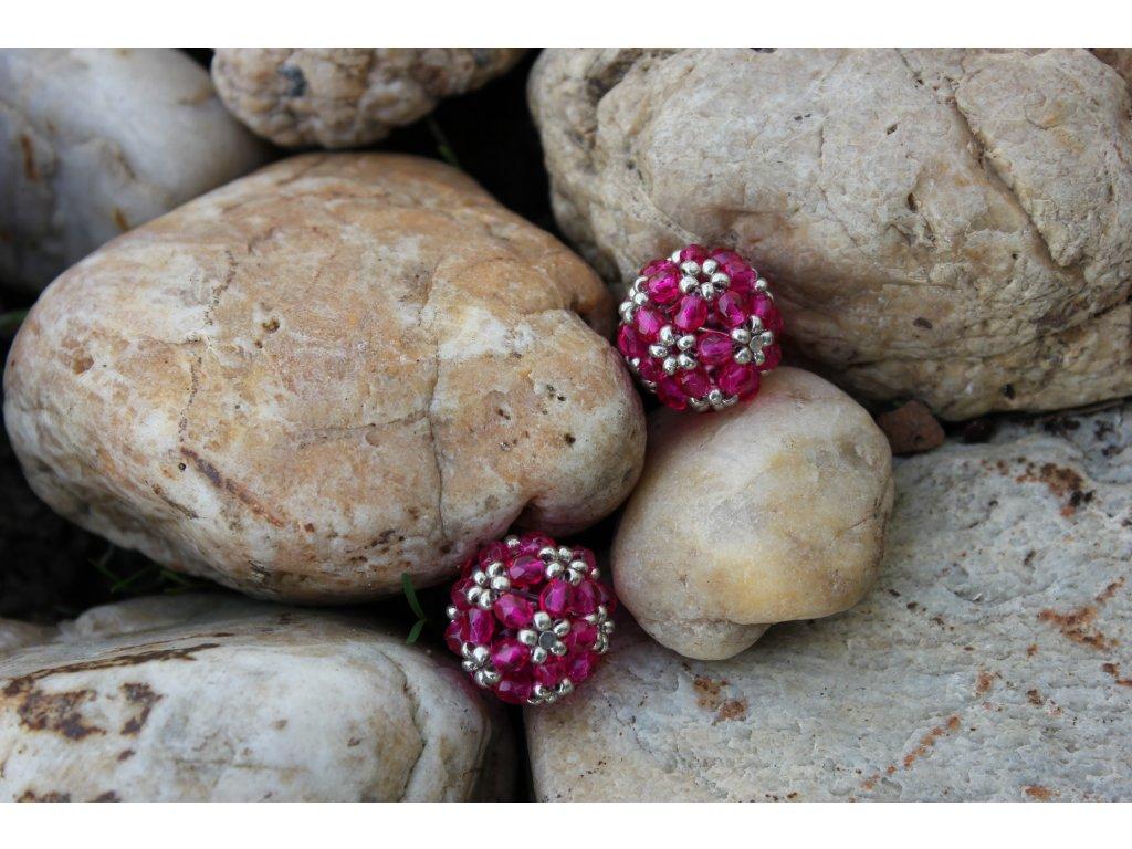 Náušnice kuličky růžové