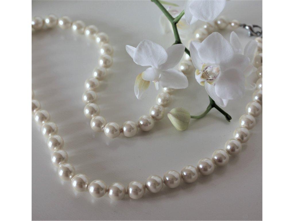 Náhrdelník bílé perly